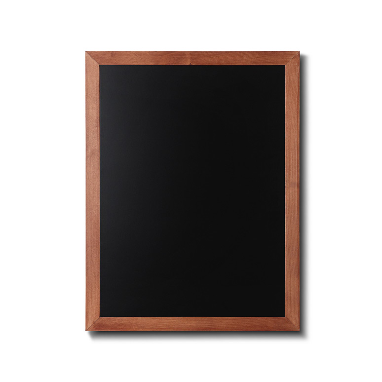 Chalkboard with light brown frame. Size 24x32.