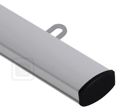 Banner Hanger Clamp Rail - aluminum holder for medium and large banners. Closed top rail.