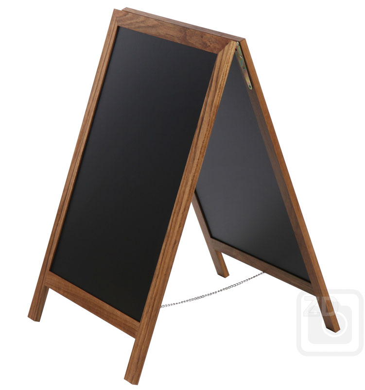 Attractive 28x49 Large - Teak Brown - A-Board Chalkboard DV35