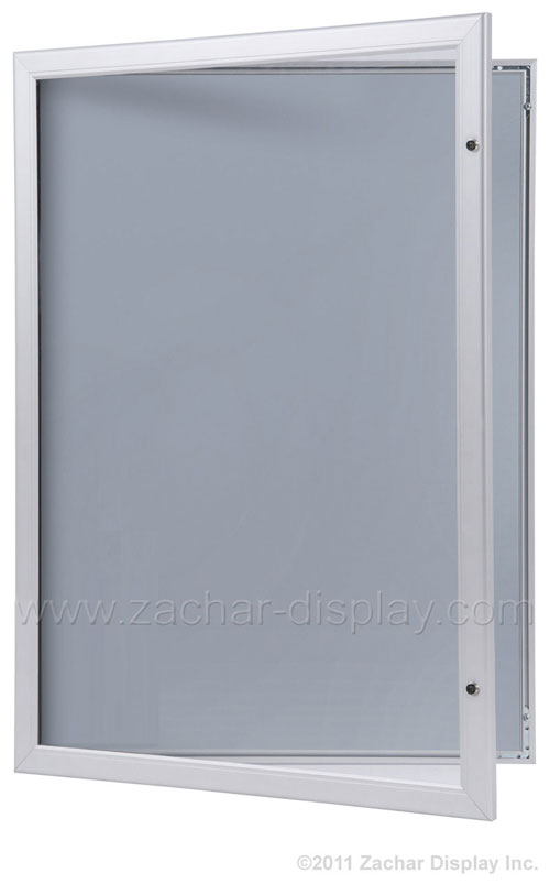 The Lockable Poster Case has a full aluminum frame, hinged front door ...