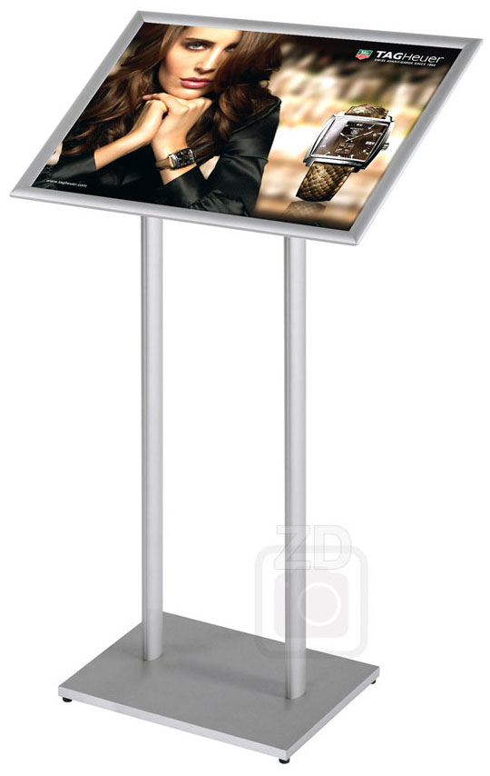Sign Stand - Info Board - Attractive display stand with 22x17 snap frame, great for poster and sign presentation.