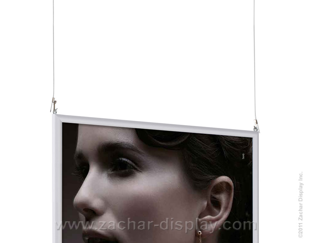 This image shows slide in frame with hanging wires.