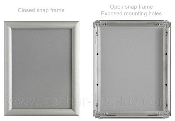Large poster snap frames